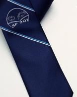 Zakázková výroba kravaty vyšití loga - bílá